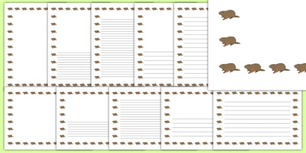 Groundhog Writing Borders Pack - groundhog day, groundhog, tradition, celebration, writing borders, pack
