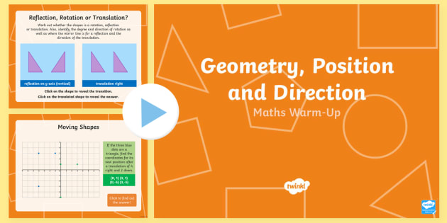 year 6 geometry position and direction maths warm up powerpoint