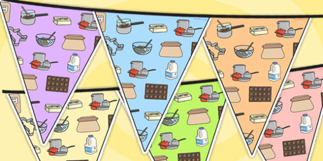 Cooking Area Themed Bunting - cooking, classroom areas, cook