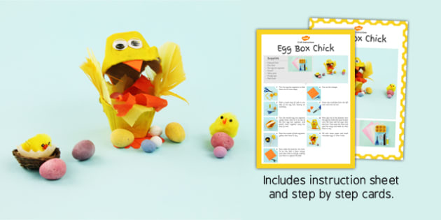 Egg Box Chick Craft Instructions - craft, instructions, egg, box