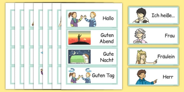 Year 3 Getting to Know You Word Cards German - german, year 3, getting to know you, word cards, word, cards