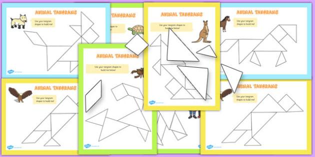 Tangram Animals Activity Booklet - activities, tangrams, animal