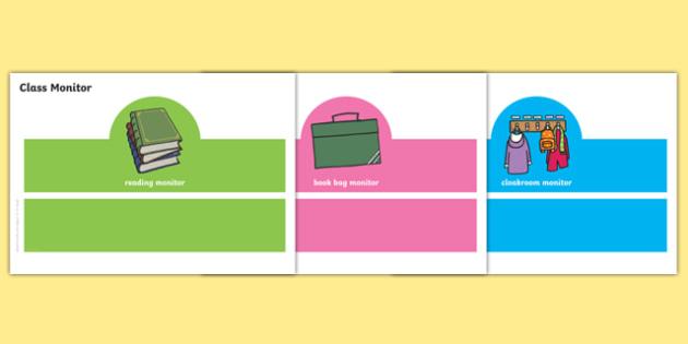 Class Monitor Headbands Resource Pack