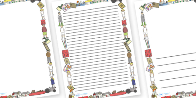 Page Borders to Support Teaching on Katie Morag Delivers The Mail - Katie Morag, page border, writing template, writing aid, Mairi Hedderwick, story, fine motor skills, scotland, scottish, book, resources, story book