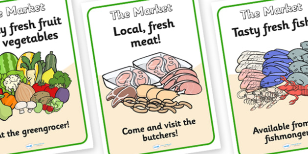 The Market Role Play Posters-the market, role play, posters, role play posters, the market role play, the market posters, display posters