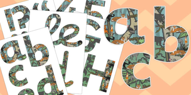 The Jungle Book Themed Display Letters and Numbers Pack - jungle book, display
