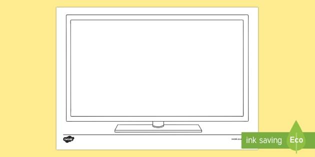 Doodle Draft Television Activity Sheet