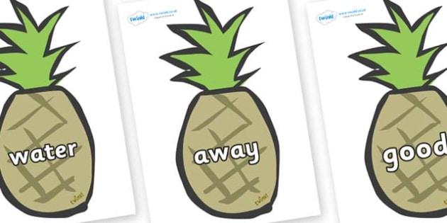 Next 200 Common Words on Pineapples - Next 200 Common Words on  - DfES Letters and Sounds, Letters and Sounds, Letters and sounds words, Common words, 200 common words