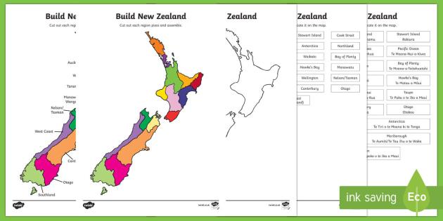 New Zealand Regions Map.Build New Zealand Regions Jigsaw Puzzle Map New Zealand
