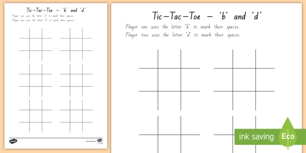 new letter discrimination tic tac toe activity sheet dyslexia reversals