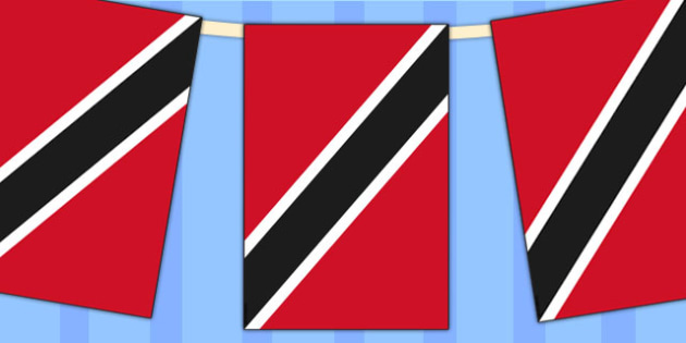 Trinidad and Tobago Flag Display Bunting - geography, commonwealth