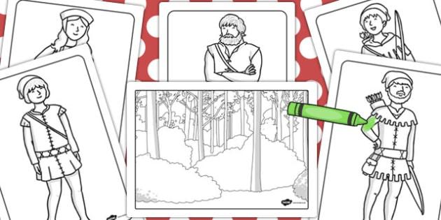 Free Printable Robin Hood Coloring Pages - Kids-AusmalbilderTV | 315x630