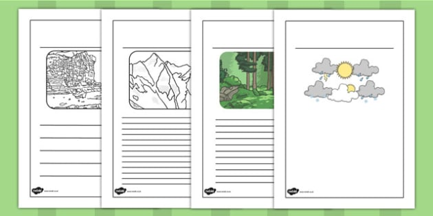 Physical Geography Writing Frames - geography, writing frames