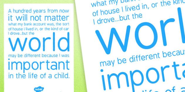 Inspirational Display Poster - inspirational, display poster, display, poster, inspire