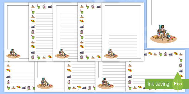 Summer Holiday Bucket List Page Border Pack