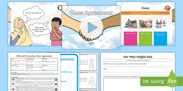 New Pshe And Citizenship Ks1 Class Agreement Lesson Pack