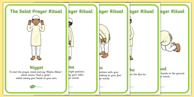 The Salat Prayer Ritual Sequencing - salat prayer, islam, religious education, religion