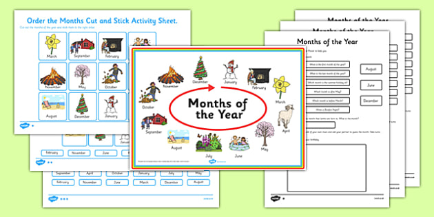 Months Of The Year Activity Pack Months Year Activity Pack