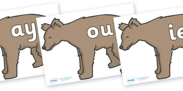 Phase 5 Phonemes on Bears - Phonemes, phoneme, Phase 5, Phase five, Foundation, Literacy, Letters and Sounds, DfES, display