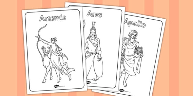 Greek Gods Colouring Pages - greek gods, colouring, pages, colour