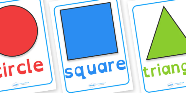 2D Shape Posters Dyslexia - shapes, 2d shapes, 2d shape posters, 2d shape posters with dyslexia font, dyslexia maths display resources, maths display, sen