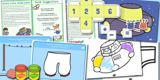 Discovery Sack to Support Teaching on Aliens Love Underpants - australia, underpants