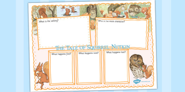 The Tale of Squirrel Nutkin Book Review Writing Frame - squirrel nutkin