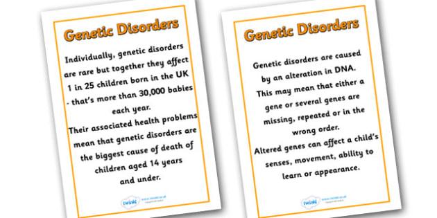Genetic Disorders Posters - genetic disorders, diversity, discrimination, differences, respect, understanding, banner, good behaviour, posters, pshe, display