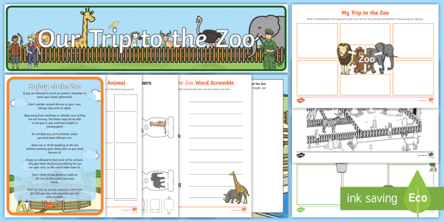 At the Zoo School Trip Resource Pack - zoo, school trip, resource