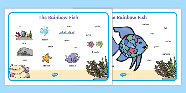 Word Mat Images To Support Teaching On The Rainbow Fish