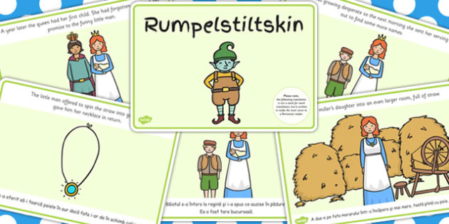 Rumpelstiltskin Story Sequencing A4 EAL Romanian Translation