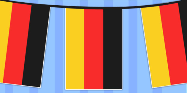 picture about Printable German Flag identified as Germany A4 Flag Bunting - international locations, geography, flags, nation