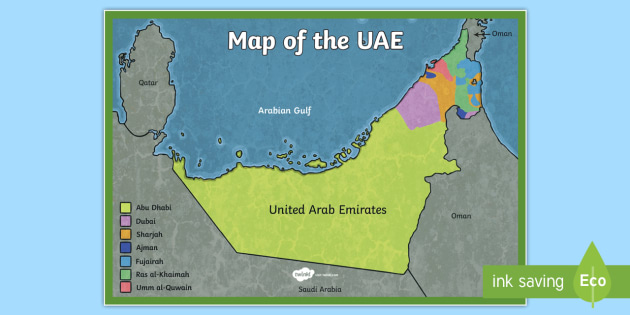 UAE Map - UAE, ADEC, MOE,, emirates, information, map