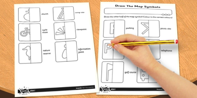 Draw The Map Symbols Worksheet Activity Sheet Activity