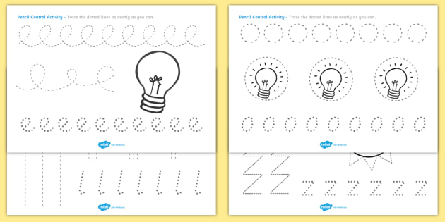 Light and Dark Pencil Control Sheets - pencil control worksheet, light and dark, pencil control, light, dark, light and dark pencil control, pencil