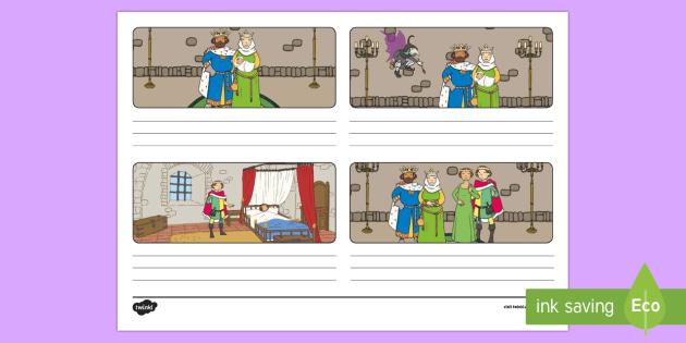 Sleeping Beauty Storyboard Template - storyboard, sleeping beauty