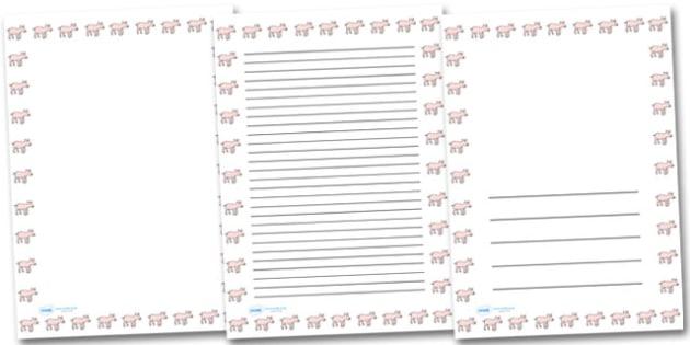 Piglet Portrait Page Borders- Portrait Page Borders - Page border, border, writing template, writing aid, writing frame, a4 border, template, templates, landscape