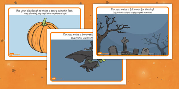 Halloween Playdough Mats Polish Translation - polish, halloween, playdough mats, playdough, activity