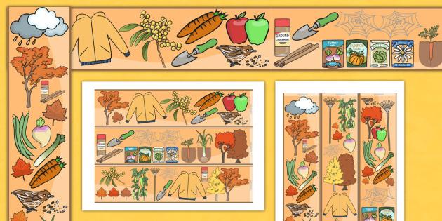 Autumn Display Borders - seasons, weather, season display, border