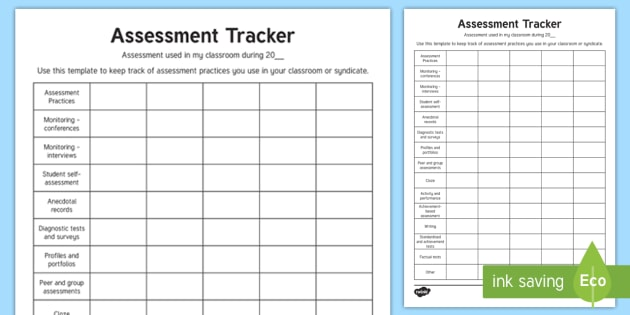 What Assessment Do I Use in My Classroom? Teaching Ideas - tracking
