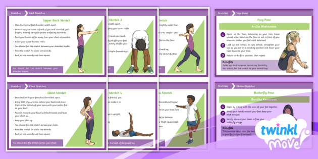 KS2 Twinkl Move PE - KS2 Stretches Cards