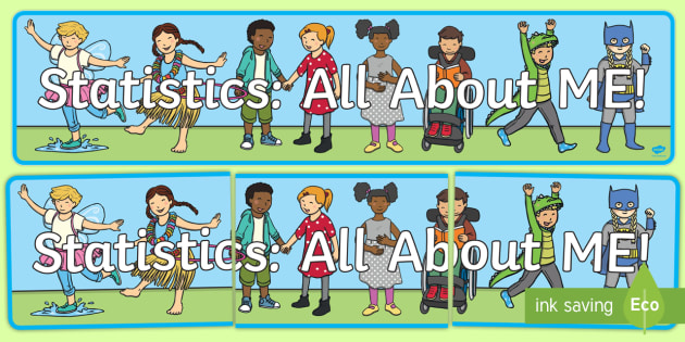 Statistics: All About ME! Display Banner - NZ Statistics, all about me, back to school, new starter, getting to know you, display, banner