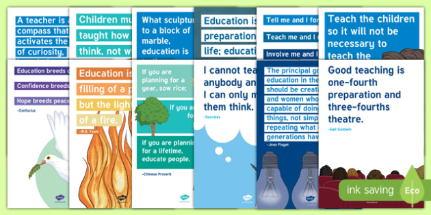 World Teachers' Day Inspirational Quotes Display Posters-Irish