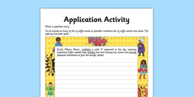 Suffix Ly Application Worksheet Activity Sheet Gps