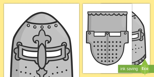 Medieval Knights Helmets Role Play Masks - medieval, knights