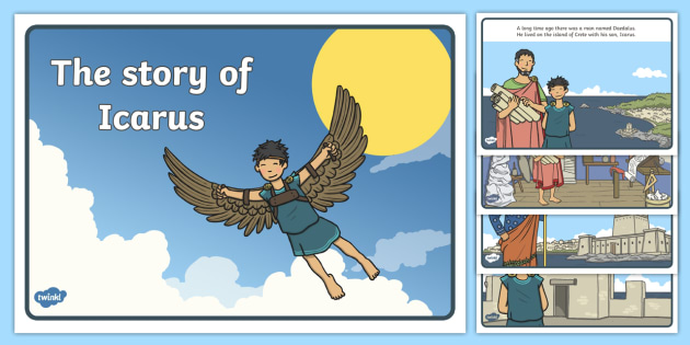 """a plot review of the story daedalus and icarus English language arts—sample item summary data   daedalus and wendy  a shaffer's poem """"icarus"""" the avian way of flight was a main peice in the story."""