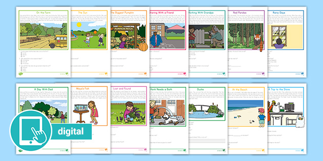 First Grade Reading Comprehension PDF ELA Worksheets
