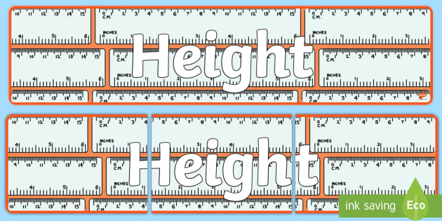 Height Display Banner - displays, banners, measure, visual aid