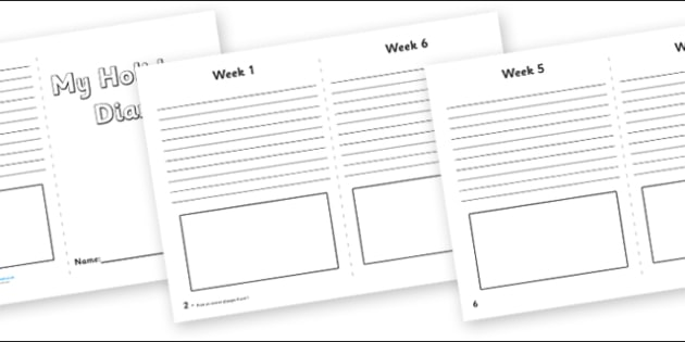 My Holiday 6 Week Diary Writing Frame - my holiday, 6 week diary writing frame, 6 week diary, writing frame, diary, journal, six week, planner, my diary, booklet, page border, writing template, holidays, record, activity, filling in