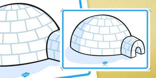 Large Igloo Display - large igloo, display, display sign, display poster, poster, sign, large, igloo